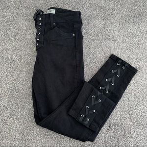 Topshop Moto Jamie Lace Up Jeans